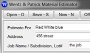 Wenta and Patrick Construction estimating software
